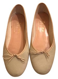French Sole pale green Flats