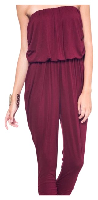 Preload https://img-static.tradesy.com/item/21146678/wine-burgundy-new-strapless-mid-length-romperjumpsuit-size-16-xl-plus-0x-0-1-650-650.jpg