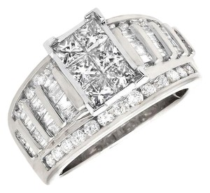 Other Princess/Round/Baguette Engagement Wedding Diamond Ring 2.0ct