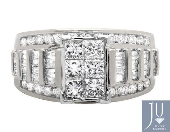 Other Princess/Round/Baguette Engagement Wedding Diamond Ring 2.0ct Image 1