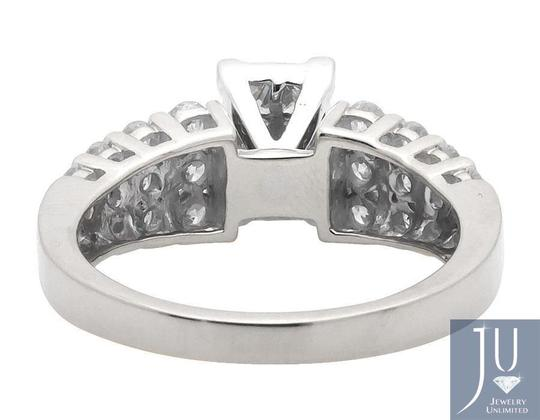 Other Invisible-Set Princess Round Diamond Engagement Bridal Ring 1.0ct Image 1