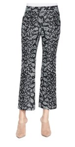 3.1 Phillip Lim Print Capris Geometric Snake Black, Green and Silver