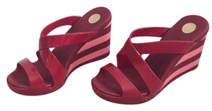 Melissa Red and Pink Wedges