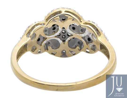 Other Three Stone Oval Cluster Cognac Brown/ White Diamond Ring 0.30ct Image 2
