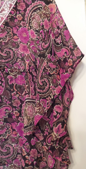 Banana Republic Tunic Long Embroidered Overlay Medium Top Pink, Black, Fuchsia, White + Image 11