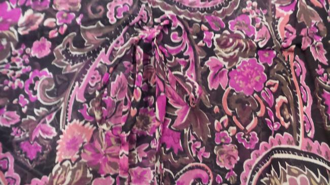 Banana Republic Tunic Long Embroidered Overlay Medium Top Pink, Black, Fuchsia, White + Image 5