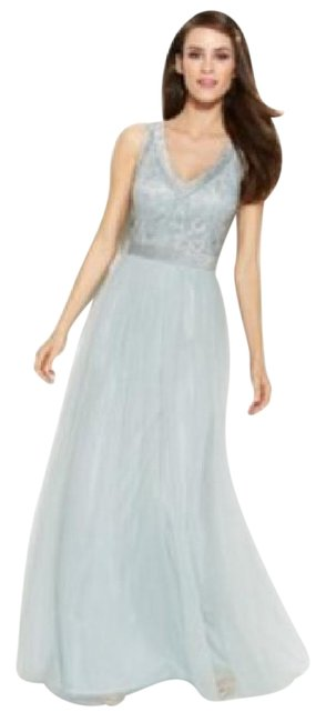 Item - Blue Beaded Bodice Long Formal Dress Size 6 (S)