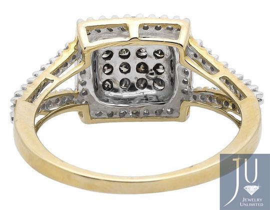 Other Square Halo White and Cognac Brown Diamond Engagement Ring 1/2ct Image 2
