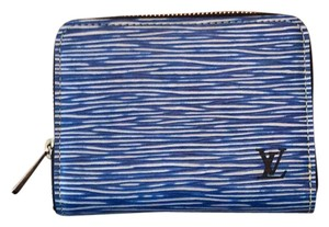 Louis Vuitton zippy coin purse epi denim leather