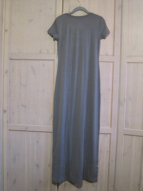 Gray/Teal Maxi Dress by Mossimo Supply Co. Maxi Scoop Neck Fitted Image 1