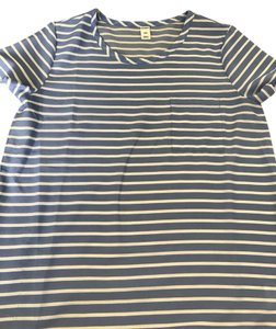 Old Navy Top Blue and white stripes