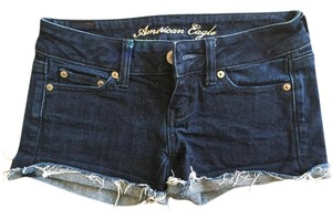 American Eagle Outfitters Dark Blue Cut Off Shorts jean
