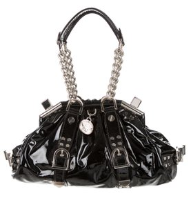Versace Patent Leather Hardware Limited Edition Satchel in Black - Silver