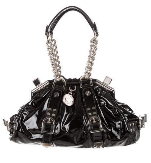 Preload https://img-static.tradesy.com/item/21147117/versace-limited-edition-black-silver-patent-leather-satchel-0-1-540-540.jpg