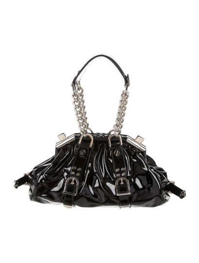 Versace Patent Leather Hardware Limited Edition Satchel in Black - Silver Image 2