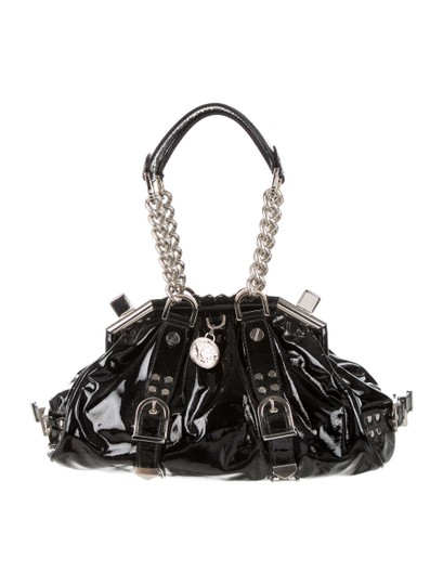 Versace Patent Leather Hardware Limited Edition Satchel in Black - Silver Image 4