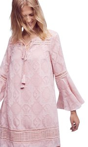Anthropologie short dress Pink Swing Embroidered on Tradesy