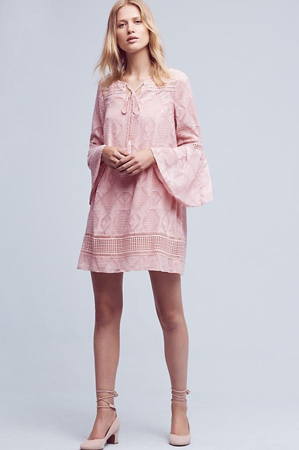 Anthropologie short dress Pink Swing Embroidered on Tradesy Image 1