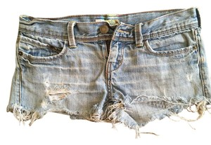 Hollister Cuffed Shorts light blue jean