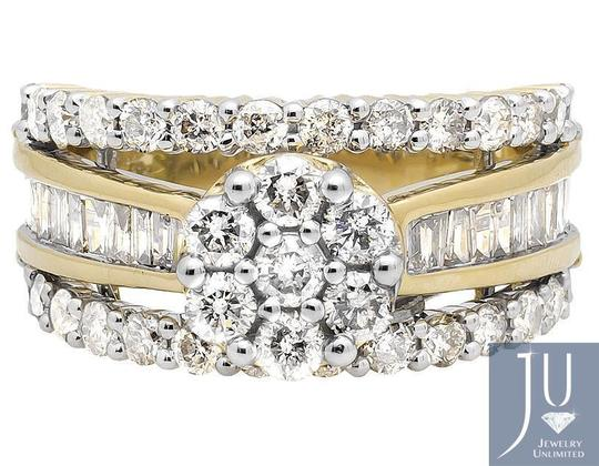 Other Flower Cluster Round/Baguette Diamond Engagement Ring 3.0ct. Image 1