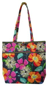 Vera Bradley Quilted Vibrant Tote in Ziggy Zinnia