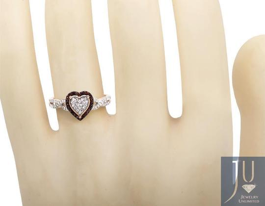 Other Heart Infinity Shank Brown And White Diamond Engagement Ring .20ct Image 1