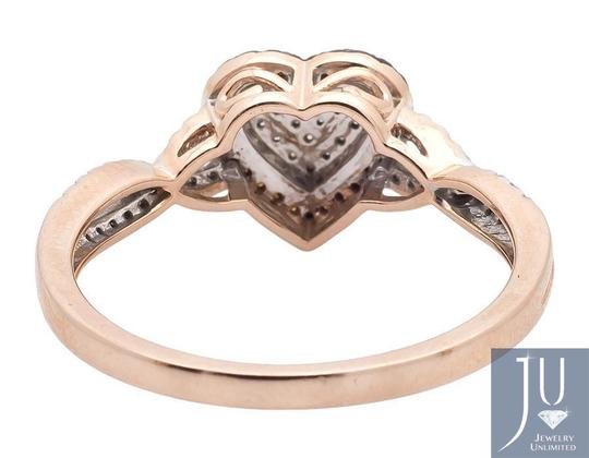 Other Heart Infinity Shank Brown And White Diamond Engagement Ring .20ct Image 2