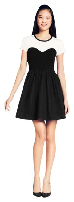 Item - Black and White Short Cocktail Dress Size 4 (S)