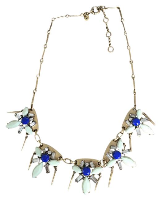 J.Crew Gold/Blue Casual Necklace J.Crew Gold/Blue Casual Necklace Image 1