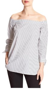 Banana Republic Top Blue & White Stripe