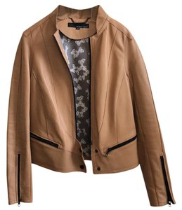 Wilsons Leather tan, leather, black Leather Jacket