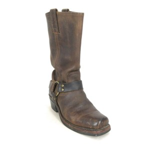 Frye Leather Harness Brown Boots