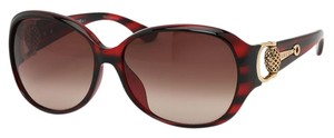 Gucci GG 3726/FS MMVJ6 Polarized Tortoise Shell Red and Gold Metal