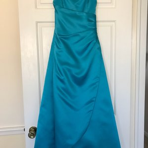 David's Bridal Malibu Blue Davids Bridal Junior Bridesmaids Dress - Malibu Blue Dress