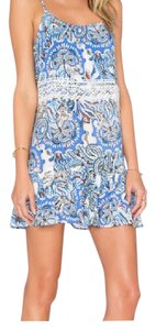 Eight Sixty short dress Periwinkle Floral on Tradesy