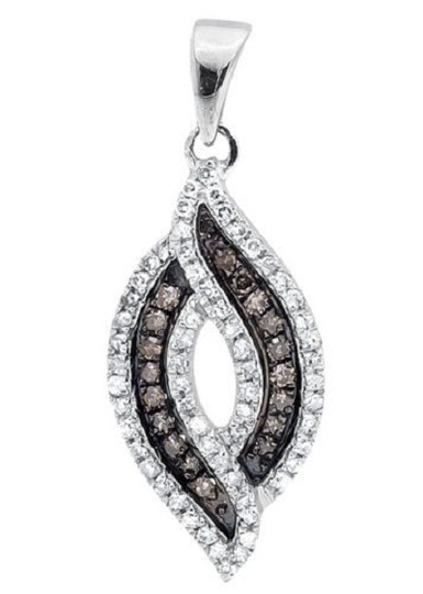 Preload https://img-static.tradesy.com/item/21147534/10k-white-gold-marquise-composite-brown-diamond-34-pendant-030ct-charm-0-0-540-540.jpg