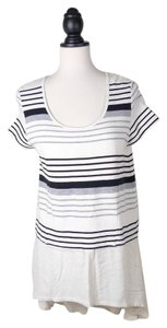 Deletta Tunic Striped Top IVORY BLACK