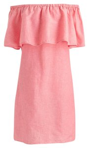 J.Crew short dress Coral Linen Off Geniune on Tradesy