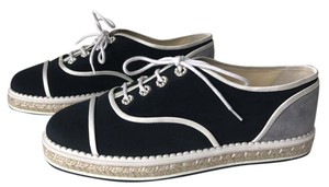 Chanel Classic Espadrilles Sneakers Navy Flats