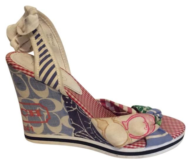 Item - Red Green Blue Tammie Wedges Size US 8 Regular (M, B)
