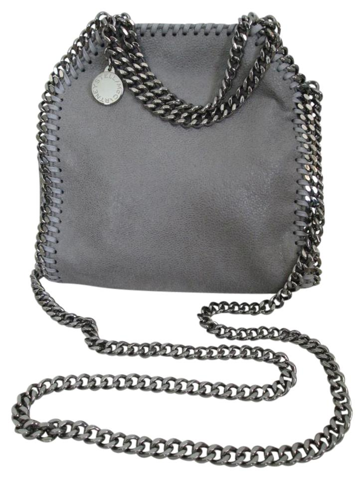 d047560ba6 Stella McCartney Falabella Light Tiny Handbag Gray Faux Leather Cross Body  Bag