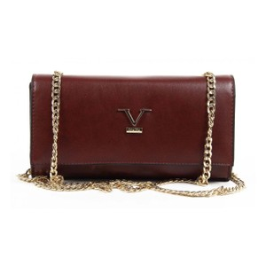Versace 19.69 Gold Hardware Envelope Monogram Chain Party Cross Body Bag