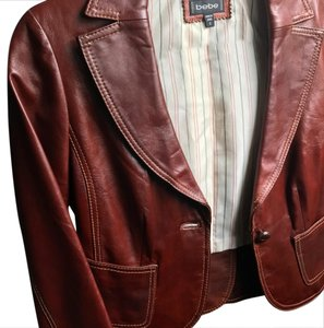 bebe Rust Leather Jacket