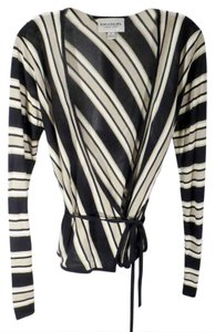Emanuel Ungaro Silk Wrap Striped Small Sweater