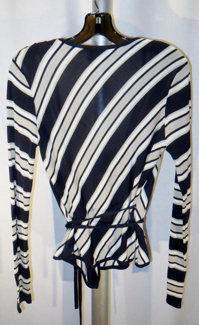 Emanuel Ungaro Silk Wrap Striped Multi-color Small Sweater Image 1