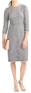 Multicolor Maxi Dress by J.Crew Fringe Hem Fitted Geniune Tweed