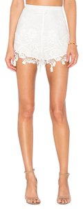 The Jetset Diaries Lace Shorts Ivory