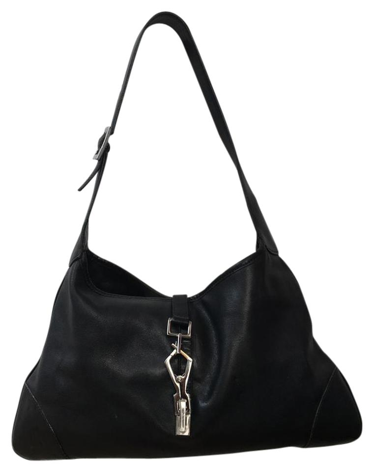 Gucci Jackie Soft Small Black Calfskin Leather Hobo Bag - Tradesy f4d053872f