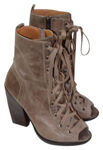 Michael Kors Open Toe Heels Taupe / Gray Boots