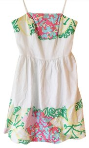 Lilly Pulitzer short dress white/pink on Tradesy